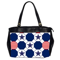 Patriotic Symbolic Red White Blue Office Handbags (2 Sides)