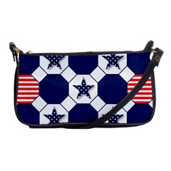 Patriotic Symbolic Red White Blue Shoulder Clutch Bags