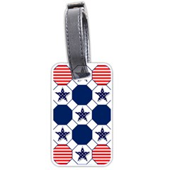 Patriotic Symbolic Red White Blue Luggage Tags (One Side)