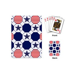 Patriotic Symbolic Red White Blue Playing Cards (Mini)