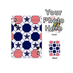 Patriotic Symbolic Red White Blue Playing Cards 54 (Mini)