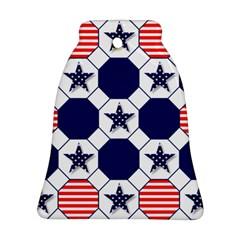 Patriotic Symbolic Red White Blue Bell Ornament (Two Sides)