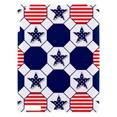 Patriotic Symbolic Red White Blue Apple iPad 3/4 Hardshell Case