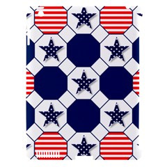 Patriotic Symbolic Red White Blue Apple iPad 3/4 Hardshell Case (Compatible with Smart Cover)