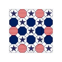 Patriotic Symbolic Red White Blue Acrylic Tangram Puzzle (4  x 4 )