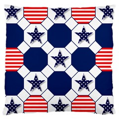 Patriotic Symbolic Red White Blue Large Cushion Case (two Sides)