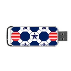Patriotic Symbolic Red White Blue Portable Usb Flash (one Side)