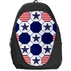 Patriotic Symbolic Red White Blue Backpack Bag