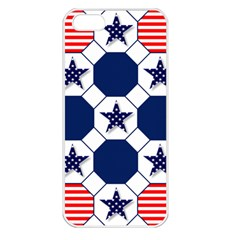 Patriotic Symbolic Red White Blue Apple iPhone 5 Seamless Case (White)