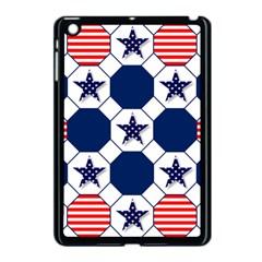 Patriotic Symbolic Red White Blue Apple iPad Mini Case (Black)