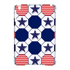 Patriotic Symbolic Red White Blue Apple iPad Mini Hardshell Case (Compatible with Smart Cover)
