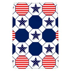 Patriotic Symbolic Red White Blue Flap Covers (L)