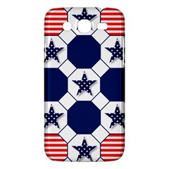 Patriotic Symbolic Red White Blue Samsung Galaxy Mega 5.8 I9152 Hardshell Case