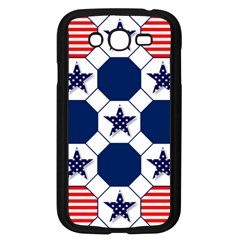 Patriotic Symbolic Red White Blue Samsung Galaxy Grand DUOS I9082 Case (Black)