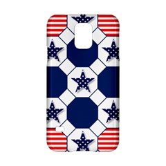 Patriotic Symbolic Red White Blue Samsung Galaxy S5 Hardshell Case