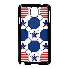 Patriotic Symbolic Red White Blue Samsung Galaxy Note 3 Neo Hardshell Case (Black)