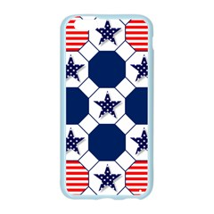 Patriotic Symbolic Red White Blue Apple Seamless iPhone 6/6S Case (Color)