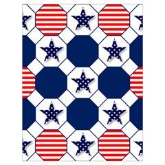 Patriotic Symbolic Red White Blue Drawstring Bag (Large)