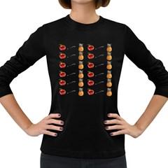 Ppap Pen Pineapple Apple Pen Women s Long Sleeve Dark T-Shirts