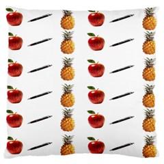 Ppap Pen Pineapple Apple Pen Standard Flano Cushion Case (One Side)