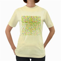 Confetti Celebration Party Colorful Women s Yellow T-Shirt