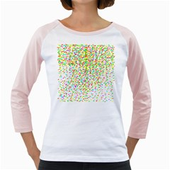 Confetti Celebration Party Colorful Girly Raglans