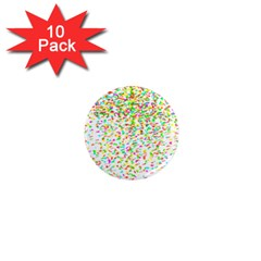 Confetti Celebration Party Colorful 1  Mini Magnet (10 pack)