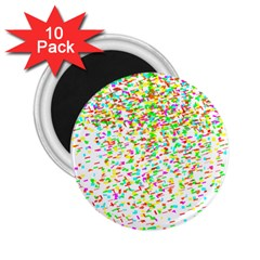 Confetti Celebration Party Colorful 2.25  Magnets (10 pack)