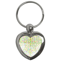 Confetti Celebration Party Colorful Key Chains (Heart)