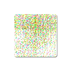 Confetti Celebration Party Colorful Square Magnet