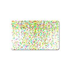 Confetti Celebration Party Colorful Magnet (Name Card)