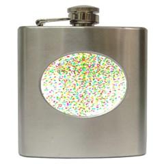Confetti Celebration Party Colorful Hip Flask (6 oz)