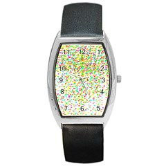 Confetti Celebration Party Colorful Barrel Style Metal Watch
