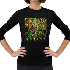 Confetti Celebration Party Colorful Women s Long Sleeve Dark T-Shirts