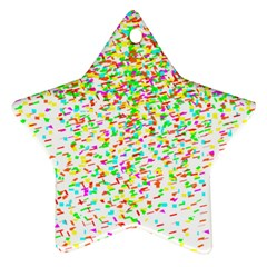 Confetti Celebration Party Colorful Star Ornament (Two Sides)