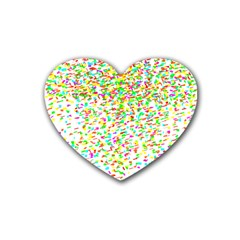 Confetti Celebration Party Colorful Heart Coaster (4 pack)