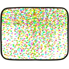 Confetti Celebration Party Colorful Double Sided Fleece Blanket (mini)