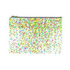 Confetti Celebration Party Colorful Cosmetic Bag (Large)