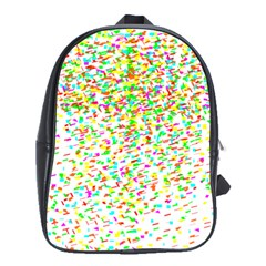 Confetti Celebration Party Colorful School Bags(Large)