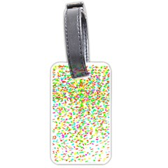 Confetti Celebration Party Colorful Luggage Tags (One Side)