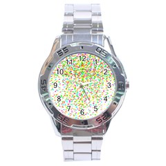 Confetti Celebration Party Colorful Stainless Steel Analogue Watch
