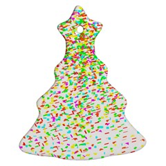 Confetti Celebration Party Colorful Christmas Tree Ornament (Two Sides)