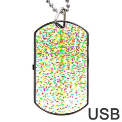 Confetti Celebration Party Colorful Dog Tag USB Flash (Two Sides)