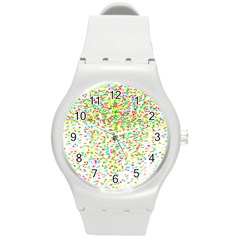 Confetti Celebration Party Colorful Round Plastic Sport Watch (m)