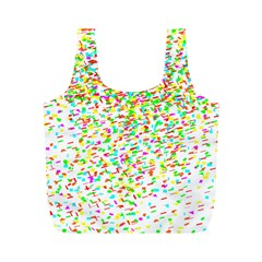 Confetti Celebration Party Colorful Full Print Recycle Bags (M)