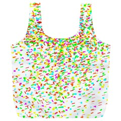 Confetti Celebration Party Colorful Full Print Recycle Bags (L)