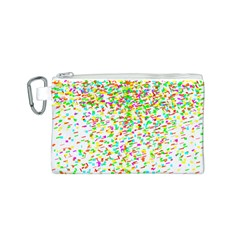 Confetti Celebration Party Colorful Canvas Cosmetic Bag (S)