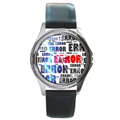 Error Crash Problem Failure Round Metal Watch