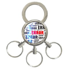 Error Crash Problem Failure 3-Ring Key Chains