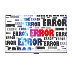 Error Crash Problem Failure Business Card Holders